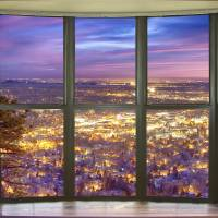 Beautiful City Lights Bay Window View Art Prints & Posters by James