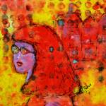 """""""Red Hot Summer Girl signed CBull large for RB"""" by artbyclaire"""