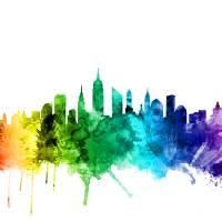 New York City Skyline Art Prints & Posters by Michael Tompsett