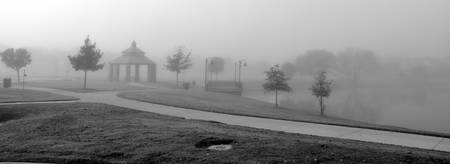 Kimzey Park Fog panoramic #3