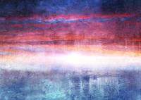 Abstract Seascape Sunset Digital Painting 35a