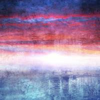 """Abstract Seascape Sunset Digital Painting 35a"" by Ricardos"