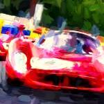 """""""Ferrari-330-P4-rouge-Le-Mans-Classic-2008-face-ava"""" by ArtbySachse"""
