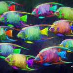 """""""Off to school of fish"""" by ArtbySachse"""