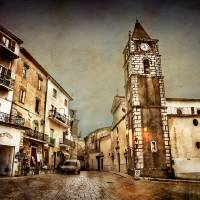 town with car Art Prints & Posters by Cristina Romanello