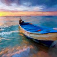 boat on shore Art Prints & Posters by Tom Sachse