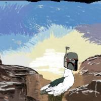 ducky on planet du Art Prints & Posters by Matthew Stitt