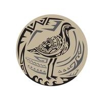 Golden Plover Standing Circle Tribal Art
