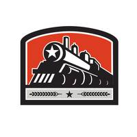 Steam Train Locomotive Star Crest Retro