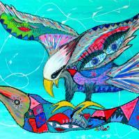 Fierce Impact Art Prints & Posters by Adka (Andrea Jones)