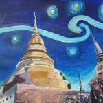 """Starry Night in Thailand - Van Gogh Inspirations i"" by arthop77"