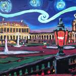 """Starry Night in Dresden with Zwinger and Van Gogh"" by arthop77"