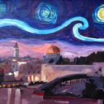 """Starry Night in Jerusalem over Wailing Wall"" by arthop77"