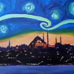 """Starry Night in Istanbul, Turkey, Van Gogh Inspira"" by arthop77"