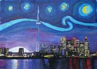 Starry Night in Toronto with Van Gogh Inspirations