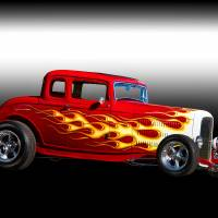 1932 Ford 'Five Window' Coupe Art Prints & Posters by Dave Koontz