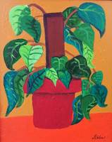 Green Plant & Red Pot 1