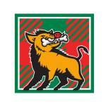 """""""Wild Boar Bone In Mouth Tartan Square Retro"""" by patrimonio"""