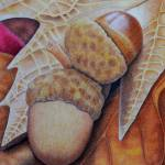 """Acorns"" by sharonpattersonsart"
