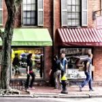 """Sig_BostonMAStreetWithCandyStoreAndBakery"" by susansartgallery"
