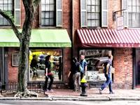 Boston MA - Street With Candy Store and Bakery