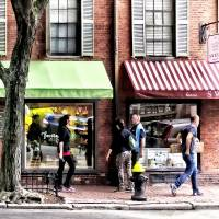 Boston MA - Street With Candy Store and Bakery Art Prints & Posters by Susan Savad
