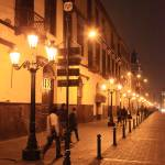 """Street at night, Lima Peru"" by RoupenBaker"