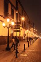 Street at night, Lima Peru