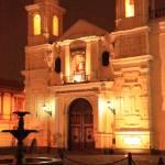 """""""Santuario de Nuestra Senora de la Soledad at night"""" by RoupenBaker"""