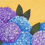 """Expressive Folk Art Hydrangea Painting A72816"" by MasArtStudio"