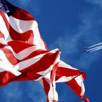 """""""The Blue Angels flying over US Flag Credit US Navy"""" by motionage"""