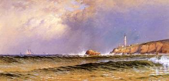 Coastal_Scene_with_Lighthouse-Alfred_T_Bricher