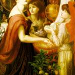 """Dante Gabriel Rossetti - The Beautiful Hand 1875"" by motionage"