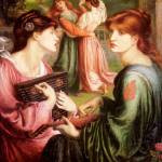 """Dante Gabriel Rossetti - The Bower Meadow"" by motionage"