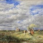 """David Cox - The Hayfield 1850"" by motionage"
