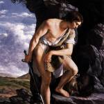 """David Contemplating the Head of Goliath by GENTILE"" by motionage"