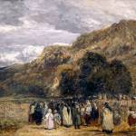 """David Cox - A Welsh Funeral, Betwys-y-Coed ca. 184"" by motionage"