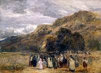 David Cox - A Welsh Funeral, Betwys-y-Coed ca. 184