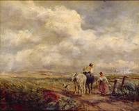David Cox - The Road Across the Common 1853