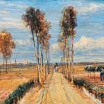 """David Cox - The Poplar Avenue, after Hobbema ca. 1"" by motionage"