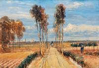 David Cox - The Poplar Avenue, after Hobbema ca. 1