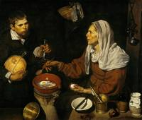 Diego Velázquez, An Old Woman Cooking Eggs, 1618