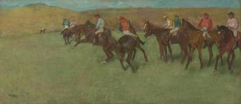 EDGAR DEGAS (1834 - 1917) - AT THE RACES - BEFORE