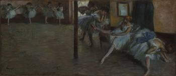 EDGAR DEGAS (1834 - 1917) - THE BALLET REHEARSAL (