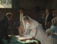 Edmund Blair Leighton, Signing the Register 1920