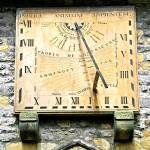 """Vertical Sundial, Eyam Parish Church"" by rodjohnson"