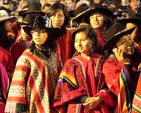 Women at the Inti Raymi Parade, Cusco Peru