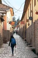 Morning Street Scene in Ollantaytambo, Peru