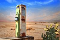 Old Gas Pump in Desert