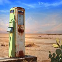 Old Gas Pump in Desert Art Prints & Posters by Charles Harker